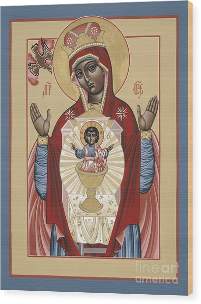 The Black Madonna Your Lap Has Become The Holy Table 060 Wood Print