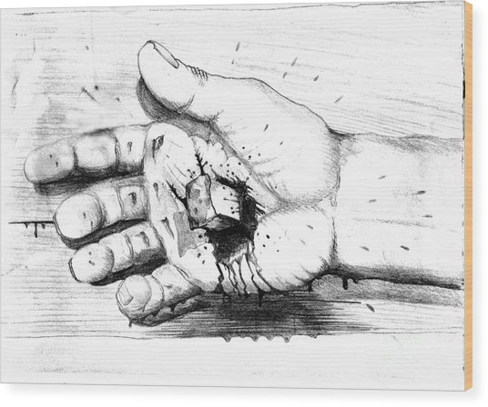 Your Life Is In His Hands Wood Print by Randall Easterling