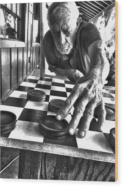 Your Move Dad Bw Art Wood Print