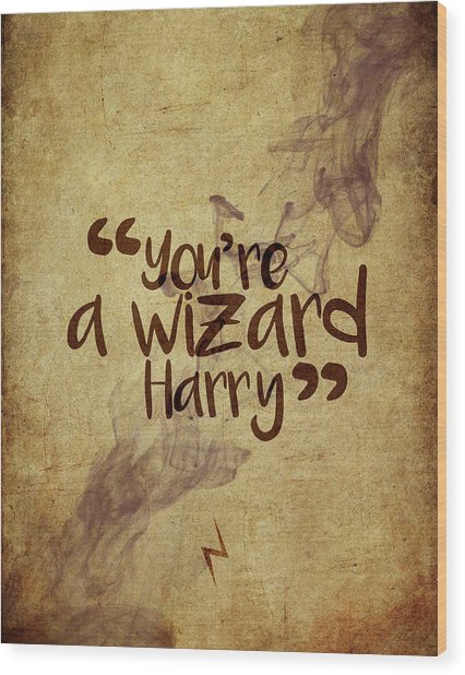 You're A Wizard Harry Wood Print