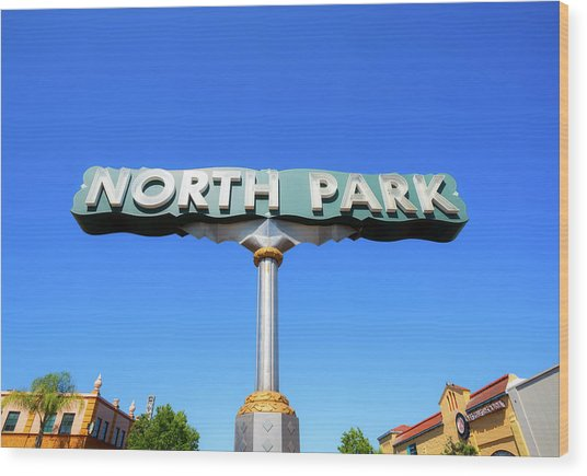 Welcome To North Park Wood Print
