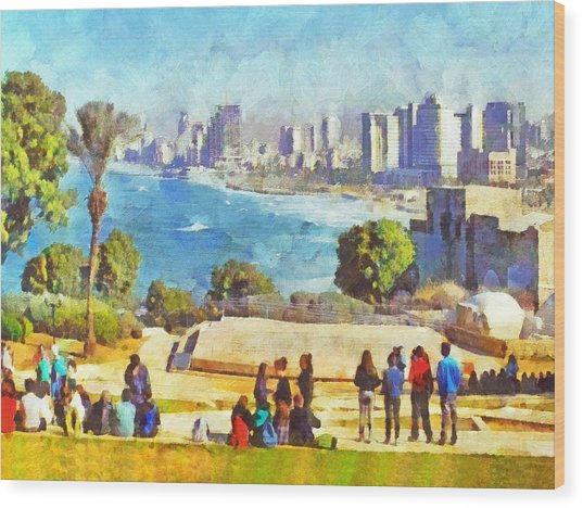 Youth Groups In Tel Aviv Wood Print