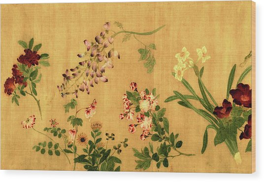 Yuan's Hundred Flowers Wood Print