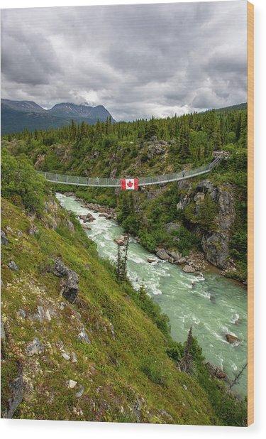 Yukon Suspension Bridge Wood Print