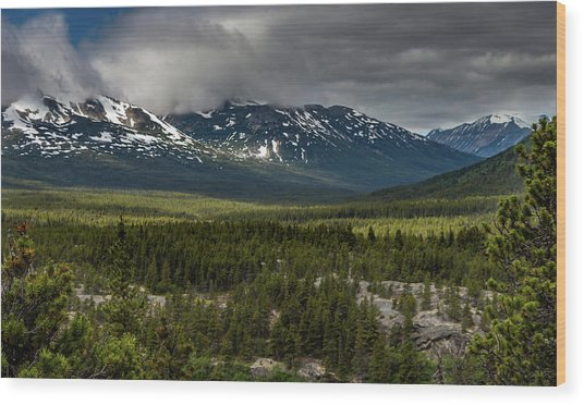 Yukon Wilderness Wood Print
