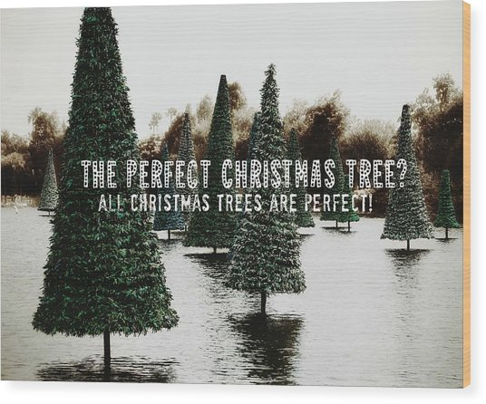 Yule Pool Quote Wood Print by JAMART Photography