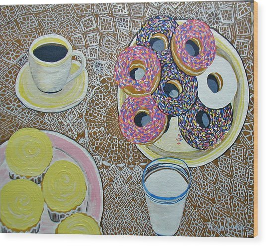 Yummy Wood Print by Norma Tolliver