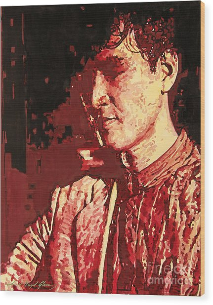 Yusaku Matsuda Wood Print by David Lloyd Glover