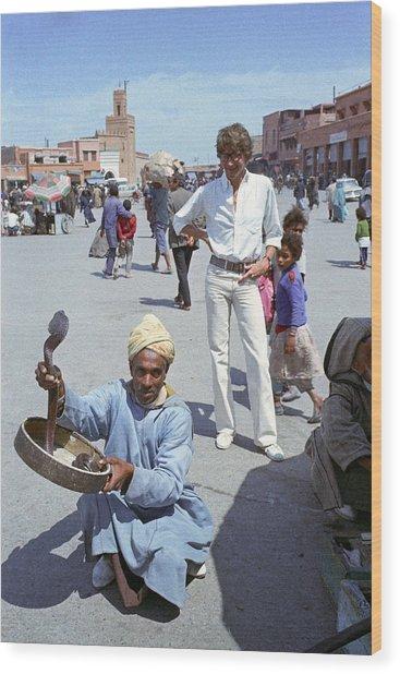 Yves Saint Laurent In Marrakech Wood Print