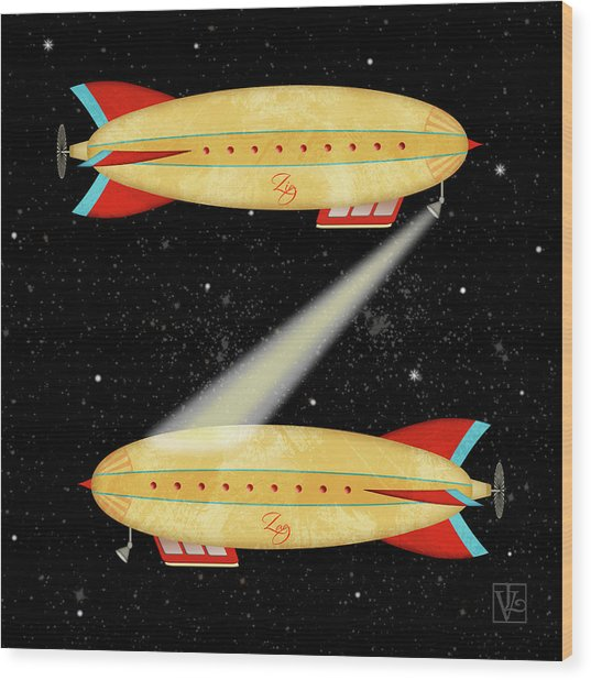 Z Is For Zeppelin Wood Print