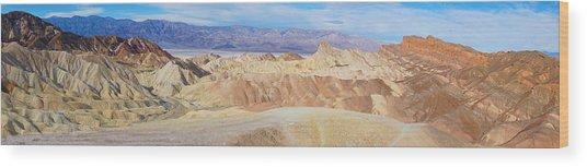 Zabriski Point Panoramic Wood Print