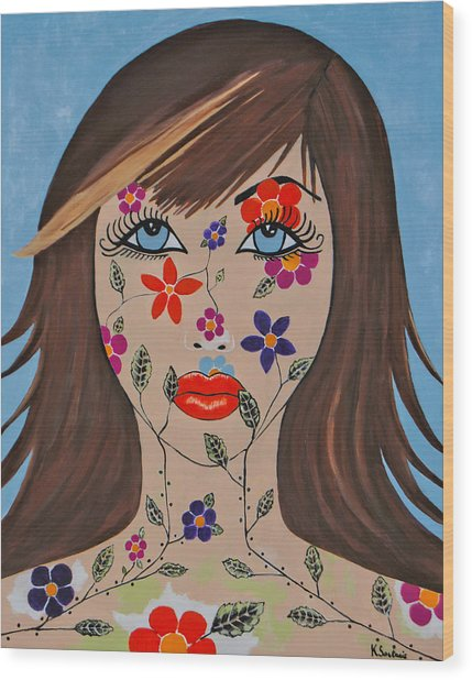 Zahir - Contemporary Woman Art Wood Print