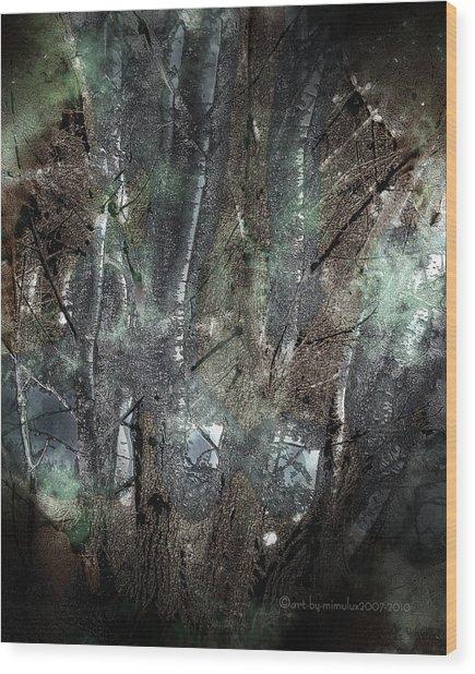 Zauberwald Vollmondnacht Magic Forest Night Of The Full Moon Wood Print