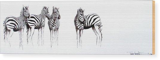 Zebbies Wood Print