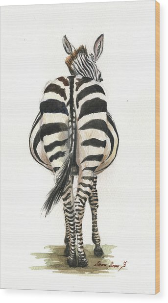 Zebra Back Wood Print