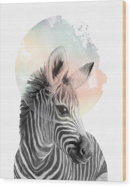 Zebra // Dreaming Wood Print