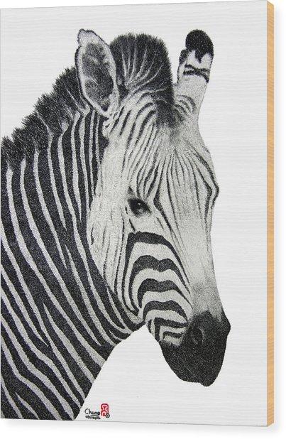 Zebra Wood Print by Joung Sik Chun