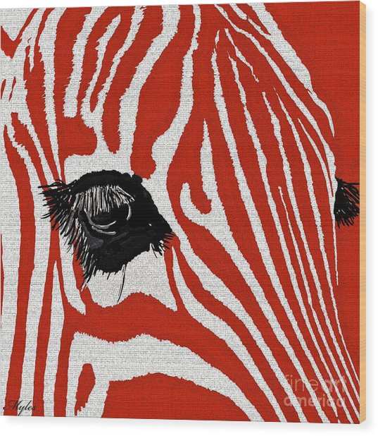 Zebra Red Wood Print