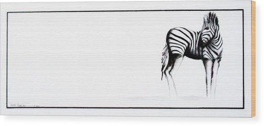 Zebra3 Wood Print