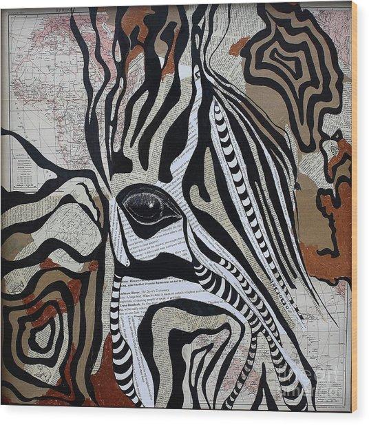 Zebroid Wood Print
