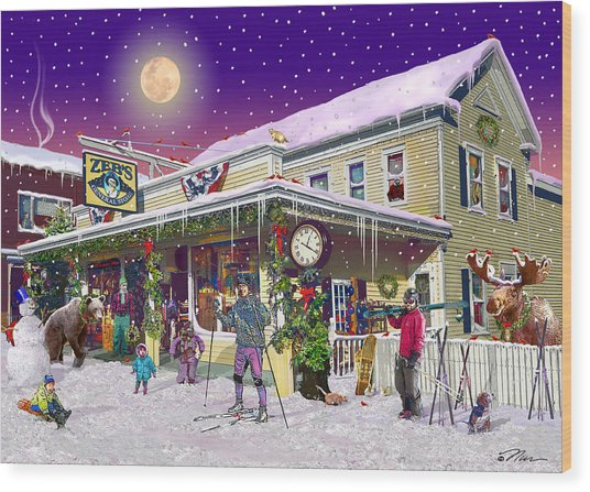 Zebs General Store In North Conway New Hampshire Wood Print