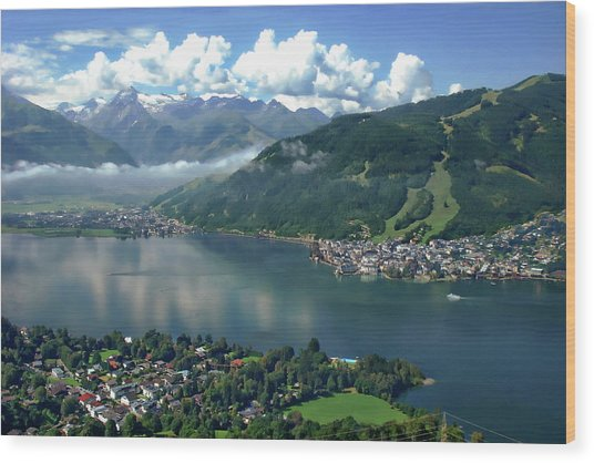 Zell Am See Panorama Wood Print