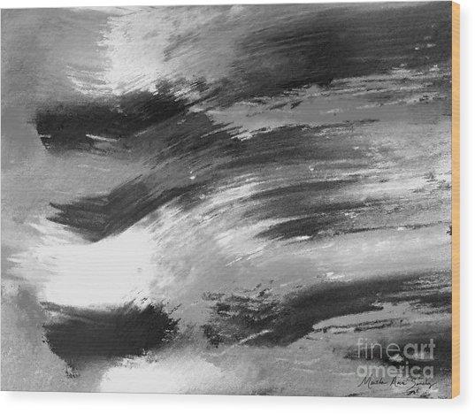 Zen Abstract A715d Wood Print