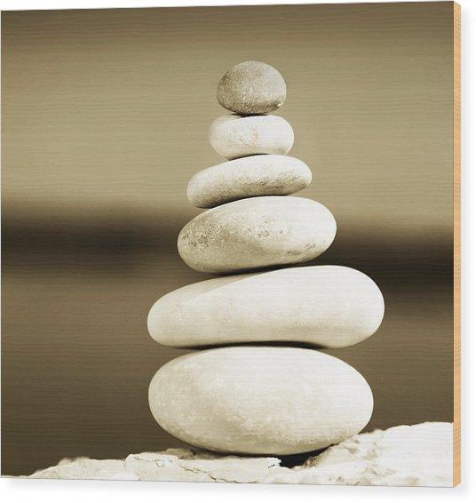 Zen Balance Wood Print
