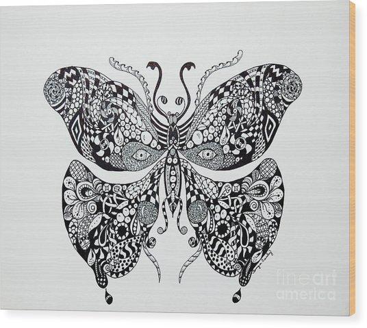Zen Butterfly Wood Print