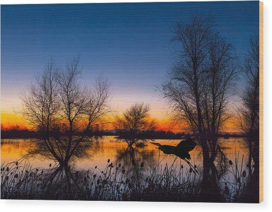 Zen Dawn Wood Print