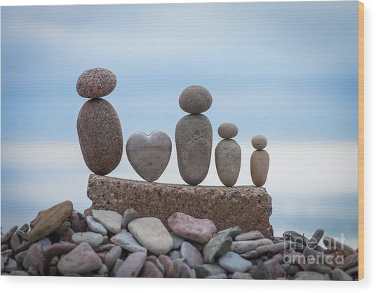 Zen Family Wood Print