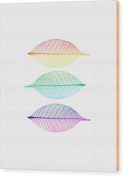 Zen Leaves Wood Print