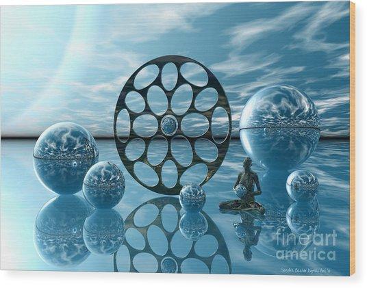 Wood Print featuring the digital art Zen Moment by Sandra Bauser Digital Art