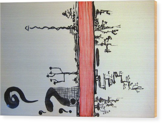Zen red line painting by raul morales for Red line printing