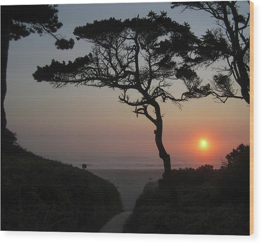 Zen Sunset Wood Print by HW Kateley