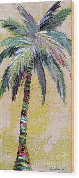 Zest Palm I Wood Print