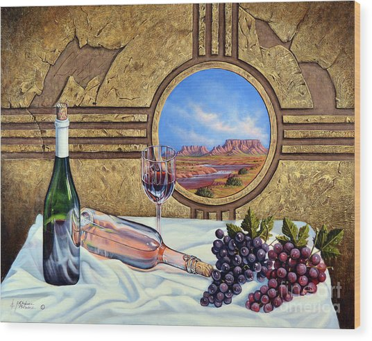 Zia Wine Wood Print