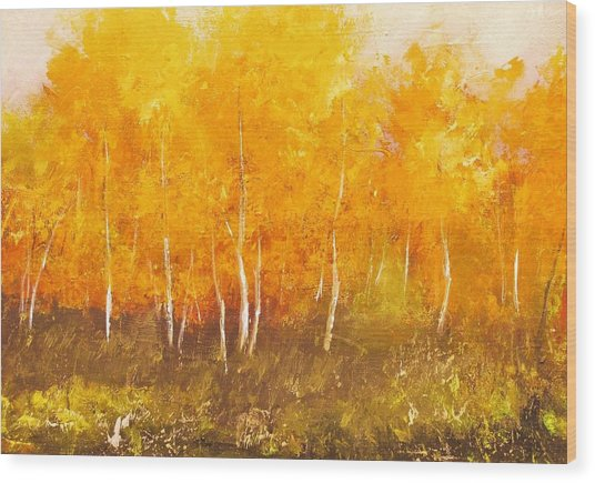 Zion Autumn Wood Print by Anahid Minatsaghanian