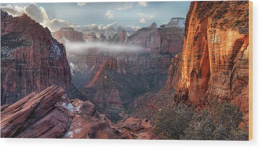 Zion Canyon Grandeur Wood Print
