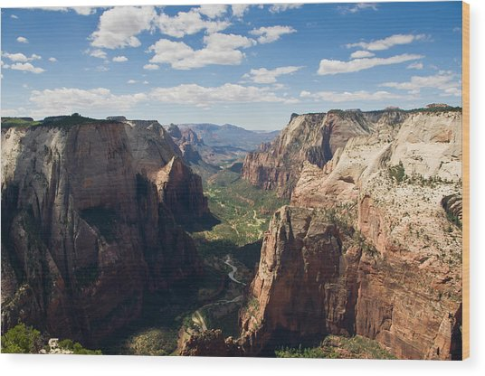 Zion Valley From Observation Point - Color Wood Print by Steven Wilson