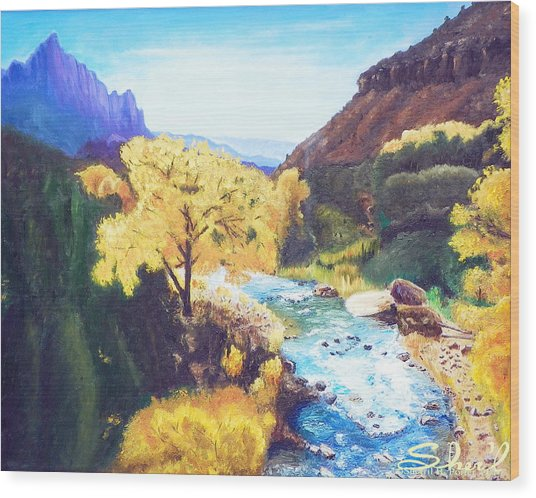 Zion's In Autumn Wood Print