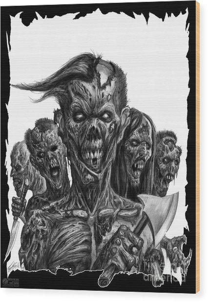 Zombies  Wood Print