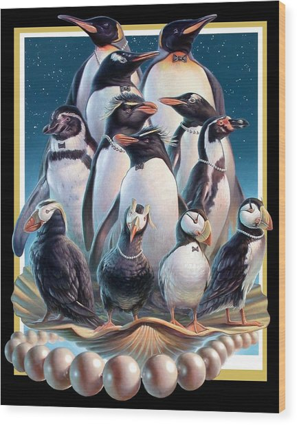 Zoofari Poster 2004 The Penguins Wood Print