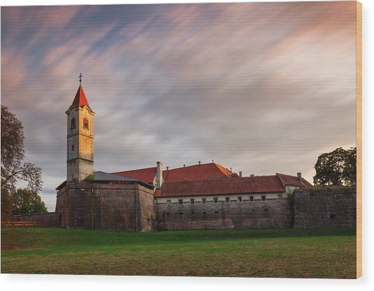 Wood Print featuring the photograph Zrinskis' Castle by Davor Zerjav