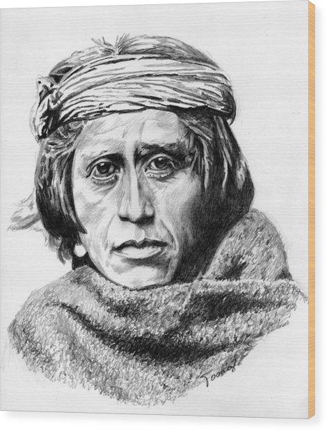 Zuni Man Wood Print