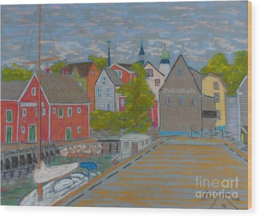 Zwickers Wharf Lunenburg Wood Print