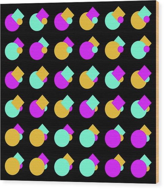 045 Circle And Square - Phi Wood Print