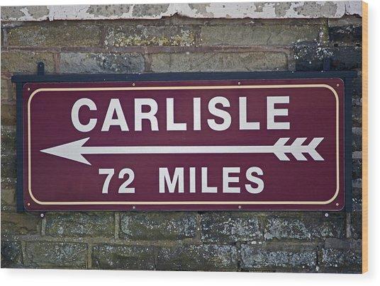 06/06/14 Settle. Period Destination Board. Wood Print