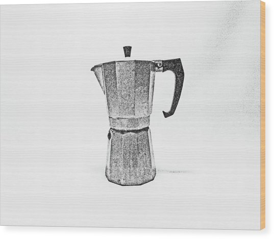 08/05/19 Cafetiere Wood Print