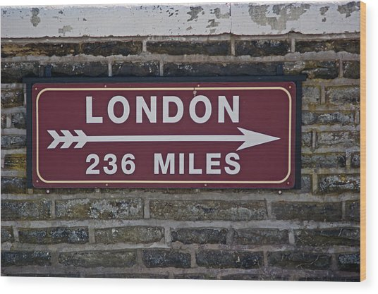 06/06/14 Settle. Station View. Destination Board. Wood Print